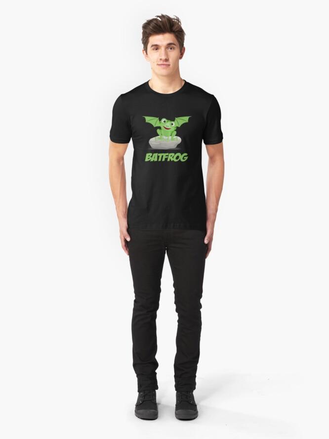 Alternate view of Batfrog Bat Frog CM Kawaii Slim Fit T-Shirt