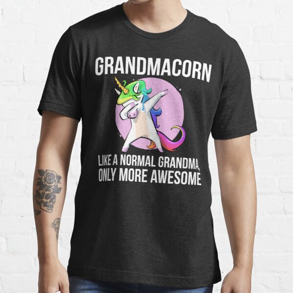 Grandmacorn Grandma Grandmother Unicorn Dabbing Essential T-Shirt