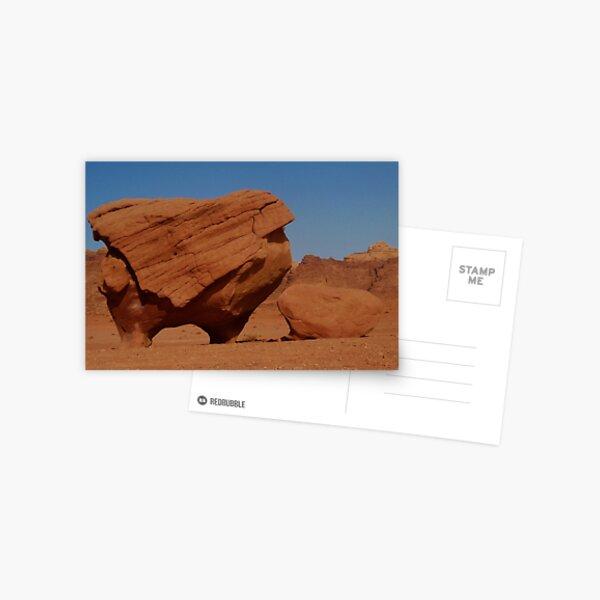 petrified monster in Wadi Rum Postcard
