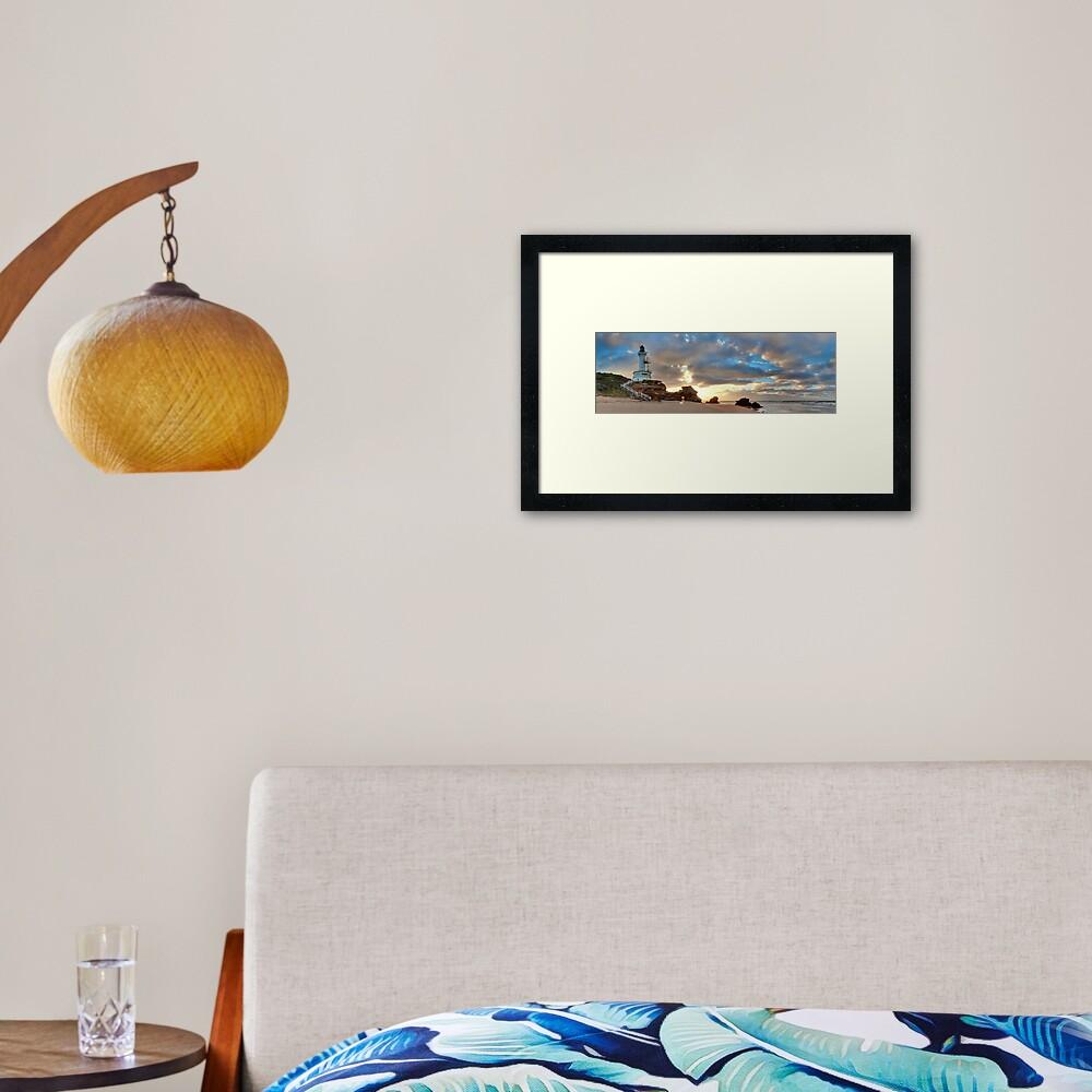 Point Lonsdale Lighthouse Awakens, Australia Framed Art Print