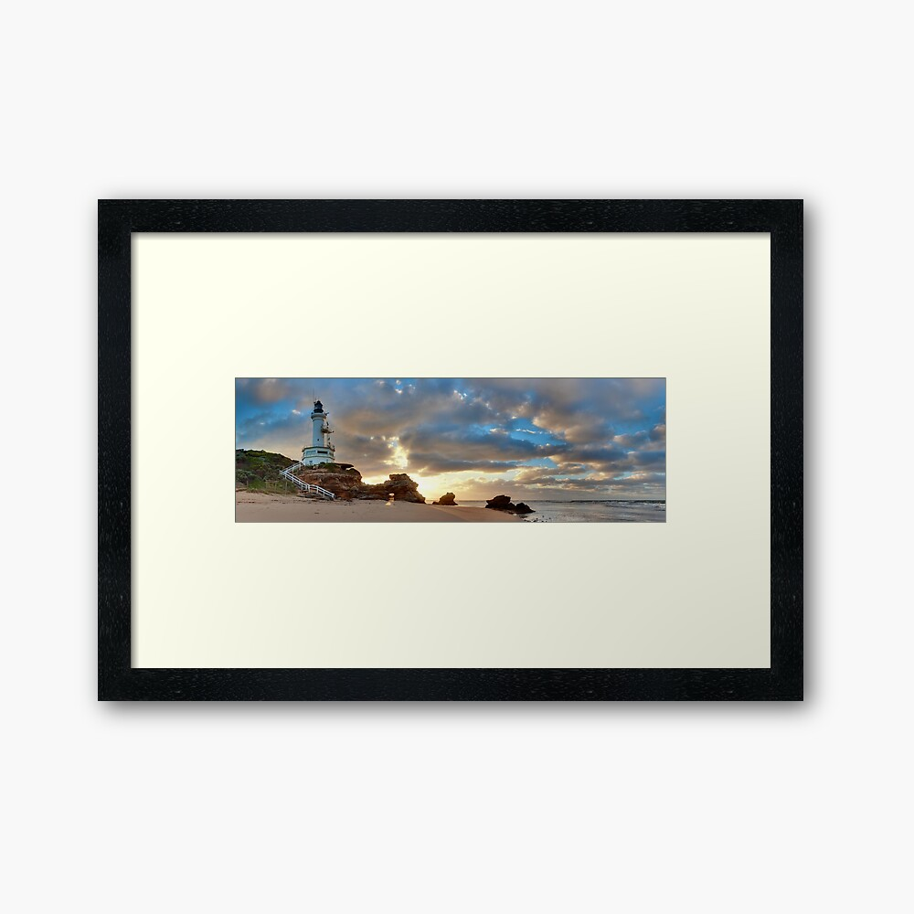 Point Lonsdale Lighthouse Awakens, Australia Framed Art Print