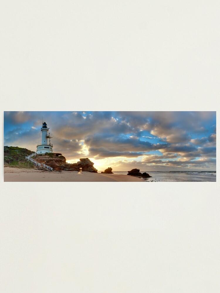 Alternate view of Point Lonsdale Lighthouse Awakens, Australia Photographic Print