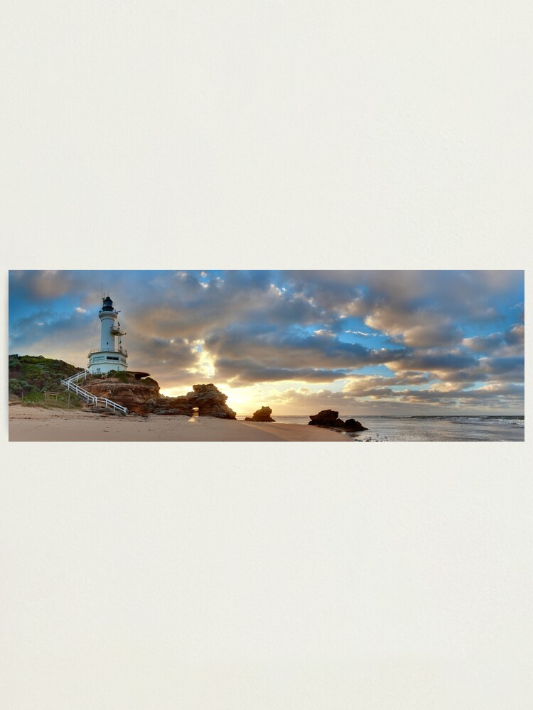 Alternate view of Point Lonsdale Lighthouse Awakens, Australia Photographic Print