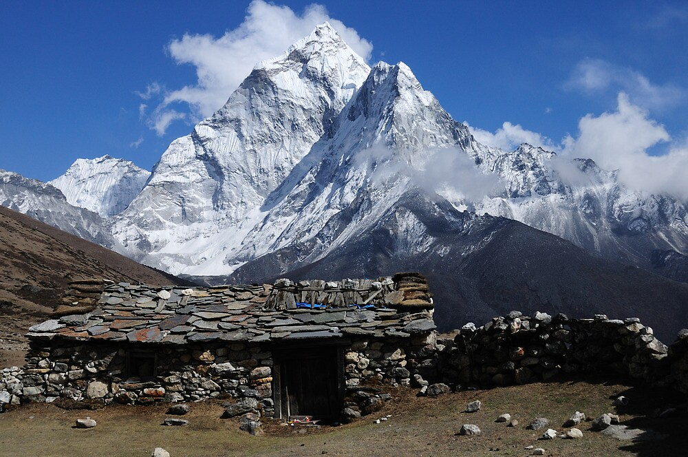 home at dingboche   nepal by derek mcmorrine redbubble