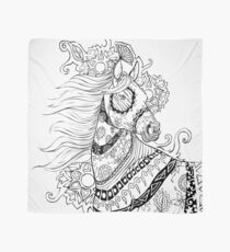 Coloriage Adulte Cheval.Coloriage Adulte Foulards Redbubble