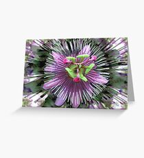"""Abstract - """"Guess the flower"""" Greeting Card"""