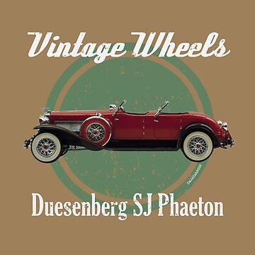 Vintage Wheels - Duesenberg SJ Phaeton  by DaJellah