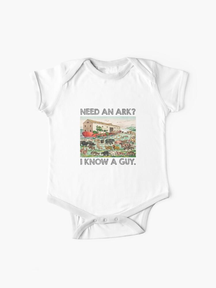 I Noah Guy Babygrow Funny Joke Ark Animals Body Suit Gift New Baby Present