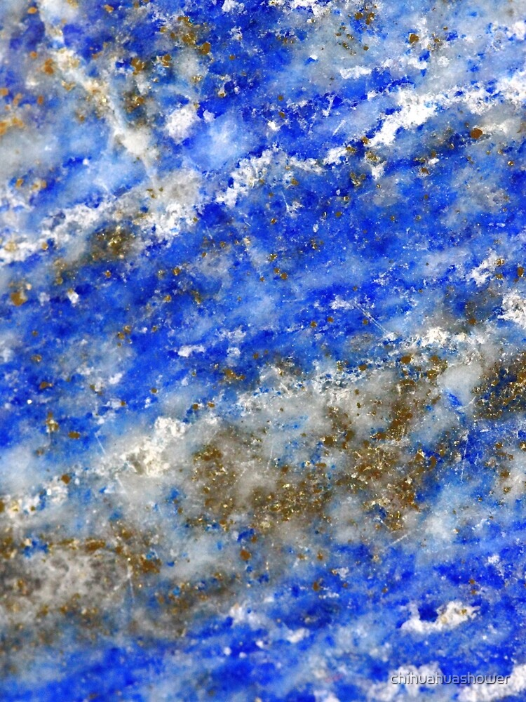 Lapis Lazuli blue and gold abstract geode texture by chihuahuashower