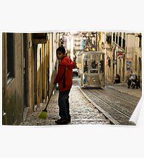 Boy in Bairro Alto, Lisbon Poster
