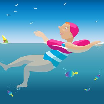 Swimming girl. by Naumovka