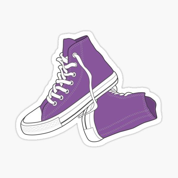 Retro Vintage Popular Purple Shoe  Sticker