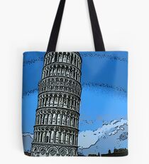 Leaning Tower of Pisa bywhacky Tote Bag