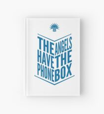 The Angels Have The Phone Box Tribute Poster Dark Blue On White Hardcover Journal
