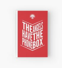 The Angels Have The Phone Box Tribute Poster White On Red Hardcover Journal