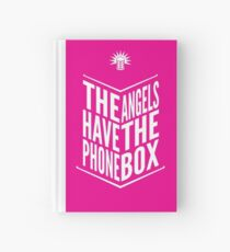 The Angels Have The Phone Box Tribute Poster White on Magenta Hardcover Journal