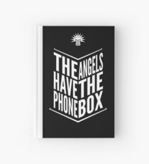 The Angels Have The Phone Box Tribute Poster White on Black Hardcover Journal