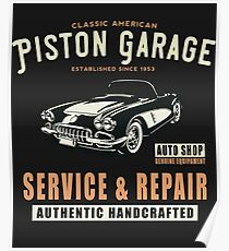Vintage Garage Service Repair, T Shirt Original Design Poster