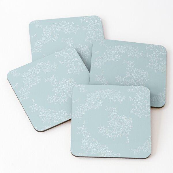 Duck egg blue ocean design Coasters (Set of 4)