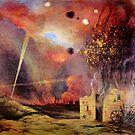 Weinlese Felix Vallotton Paysage de Ruines und dincendies 1915 von AllVintageArt