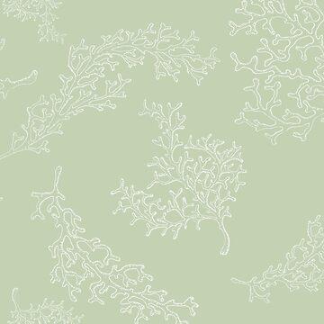 Diseño botánico del océano verde de peggieprints