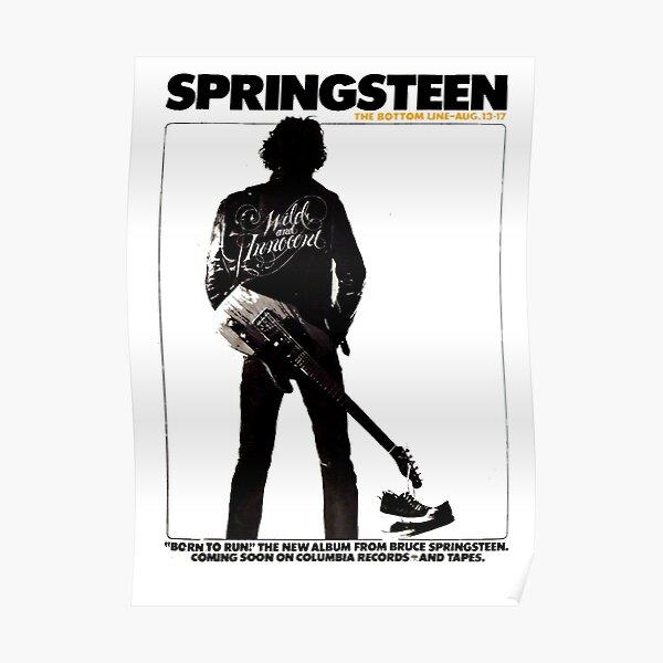 1975 Affiche de concert de Springsteen Peinture. Poster