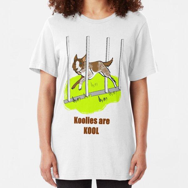 """Koolie weaving with 'Koolies are Kool"""" Slim Fit T-Shirt"""