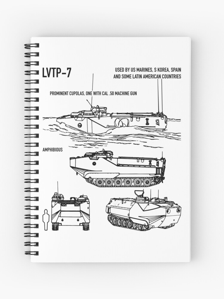 Amphibious ault Vehicle AAV-7A1 Schematic Army Tank Recognition Blueprint on notebook system, notebook samsung, notebook line, notebook design, notebook electronic, notebook layout,