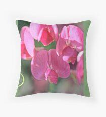 Sweet pea, Lathyrus odoratus  A Throw Pillow