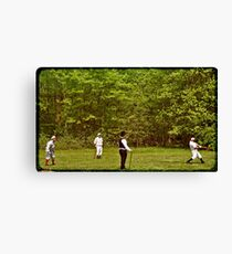 The Game 1866 Canvas Print