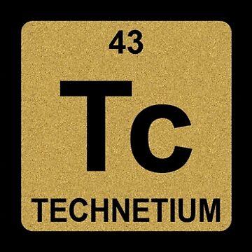 Bi Tc H - Bitch - Gold - Periodic Table - Chemistry by jennyzhang