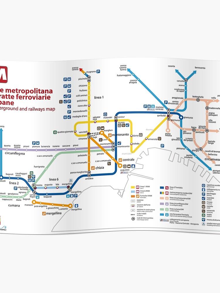 Napoli Subway Map.Napoli Metro Map Italy Hd Poster