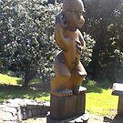 Maori Statue Auckland NZ by Camelot
