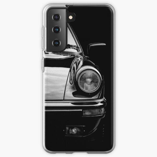 Noir sur noir Porsche 911 Coque souple Samsung Galaxy