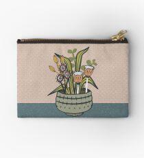 Cheeky Modern Botanical Zipper Pouch