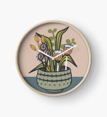Cheeky Modern Botanical Clock