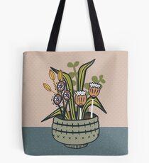 Cheeky Modern Botanical Tote Bag