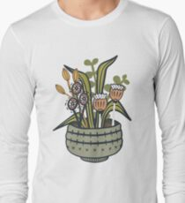 Cheeky Modern Botanical Long Sleeve T-Shirt