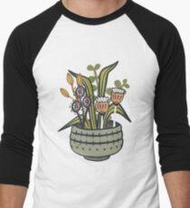 Cheeky Modern Botanical Baseball ¾ Sleeve T-Shirt