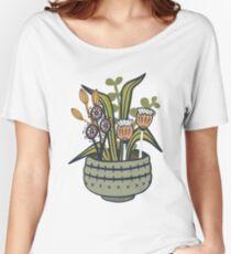 Camiseta ancha para mujer Cheeky Modern Botanical