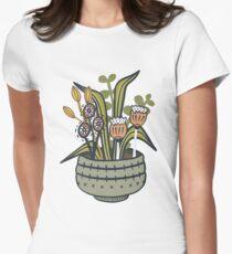 Effronté moderne botanique T-shirt moulant femme