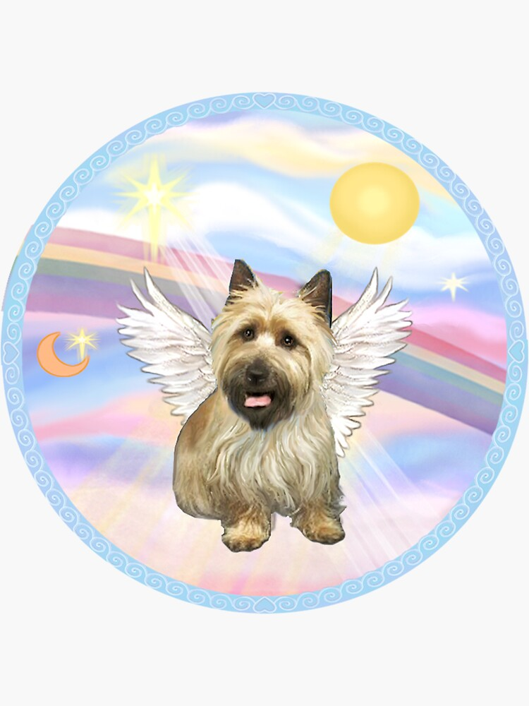 Cairn Terrier (B) in Heavens Clouds by JeanBFitzgerald