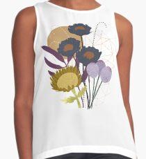 Autumnal Botanical Print Sleeveless Top