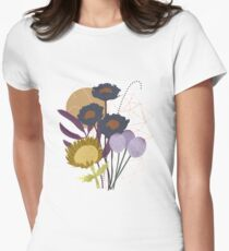 Autumnal Botanical Print Fitted T-Shirt