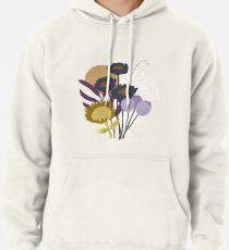 Autumnal Botanical Print Pullover Hoodie