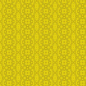 Yellow Lace Material Design  by stuartk
