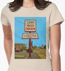 Lisa's Fried Chicken T-Shirt Womens Fitted T-Shirt