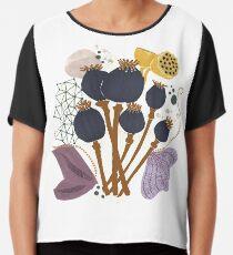 Fall Seed Pod Bouquet Chiffon Top