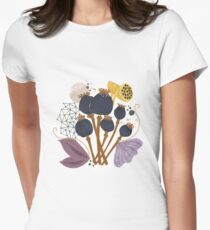 Fall Seed Pod Bouquet Fitted T-Shirt