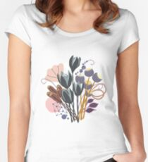 Fall Bouquet Fitted Scoop T-Shirt